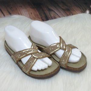 NEW!!! Sam Edelman *7* Gold Sequin Sandals